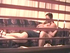 Horny duo is caught fucking in spycam vid