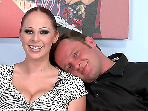 Big-breasted dark haired and a whorish blonde love 4some romp indoors