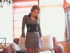 Gorgeous stunners is fucked in high high-heeled shoes and stockings