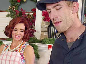 Sexy, Red-haired Superstar With Big, Faux Tits Liking A Gonzo, Rear end Style Fuck