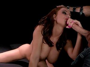 Vivacious Cougar With Big Tits Sucking A Stranger's Massive Penis