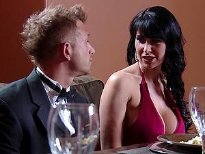 Eva Karera gets her cunt and bum fucked deep in the kitchen