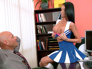 Gorgeous Cheerleader With Big Tits Lovin? A Hard-core Cowgirl Style Fuck