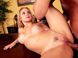 Sarah Vandella gets her butt fucked remarcably well in an office