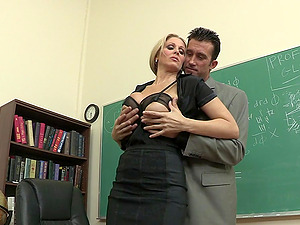 Beautiful Blonde Educator Lovin? A Gonzo Fuck In Her Classroom