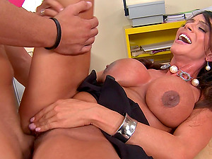 During an office soiree a Mummy gets fucked and gulps some spunk
