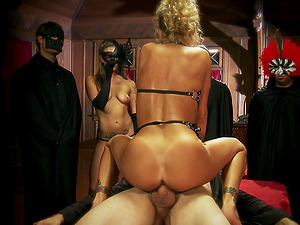 Chesty blonde mummy Devon gets banged in many poses in public