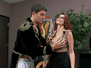 Vivacious Cougar Massive Faux Tits Luving A Gonzo Fuck In Her Office