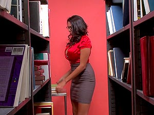 Mischievous Dark-haired Hotty Missy Martinez Gets Banged In The Library