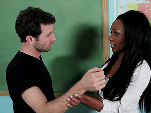 Horny Tutor Gets Pounded In The Classroom