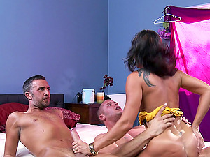 Keiran Lee Pounded Lezley Zen And Danny Mountain In Hard-core Threesome