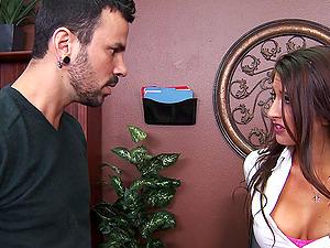 Sexy dark haired Karina Milky likes upskirt fuck-a-thon in the probe
