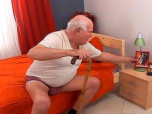 Grandpa Cocksthrill ardently fucks youthfull blondie Lola Darling