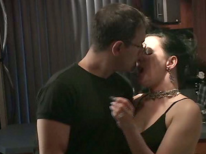 Mina Gorey is fucked on a dining table by her man