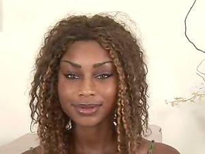 Black Solo Model Displaying Her Black Butt As She Masturbates