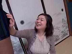 Horny Japanese Mature Lady Rails a Black Manstick Doggystyle