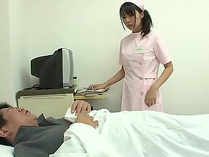 Asian Nurse Gives Her Patient A Hot Ass-fuck Check-up And A Yummy Handjob