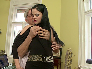 Brown-haired honey Anastasia Brill gets fucked by a lustful old man