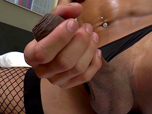 Gorgeous Shamale Animation Strokes Her Hard Penis And Shoots A Blast
