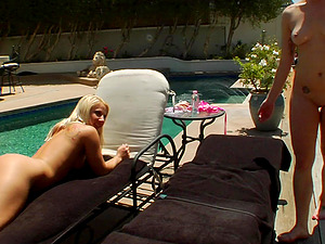 Fetish girl-on-girl chicks Nora Skyy and Kimmy Olsen likes clyster after muff tonguing