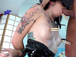 Tormented Dark haired Get Feasted Xxx In A Domination & submission Romp