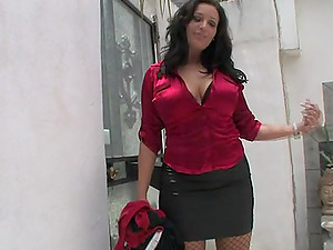 Big Tits Hoe In Fishnet Gets Rimjob And Ass fucking Plowing
