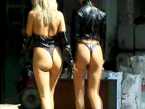 Marvelous Honies In G-string Run Riot In Hot Group bang-out
