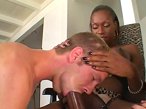 Huge-chested Shemale Beauty Fucks A Clean-shaved Twat And An Ass fucking Fuck hole Hard-core