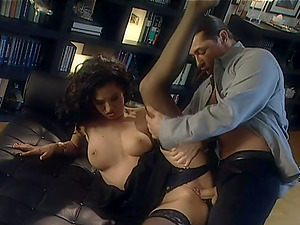 Exotic Black-haired With Stockings Gets Pounded Xxx