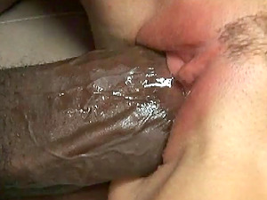 India Summer gets her labia spread by a massive black shaft