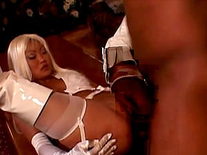 Striking Cougar In High High-heeled shoes Railing Massive Dick Doggystyle