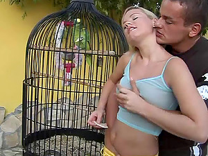 Blonde With Natural Tits Shrieking While Being Screwed Outdoor