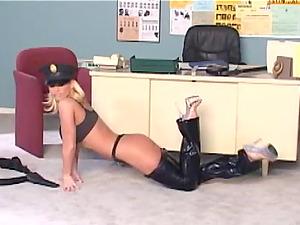 Solo Model In High Stilettos Masturbating In The Office