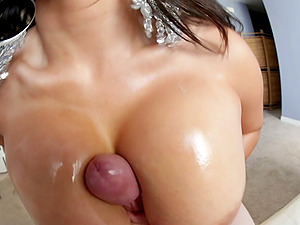 Sexy Brown-haired In Panty With Big Tits Gives A Nasty Tit drilling