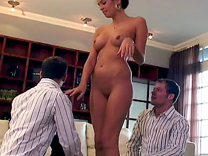 Kelly Summers getting fucked an creamed by Matt Studding and David Studding