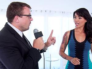 Tattooed Dana Vespoli Gives A Big Dick Hard-core Deep throat In Hot Orgasm
