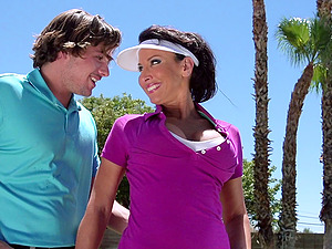Instructing Golf Revved Into Xxx Doggystyle Session