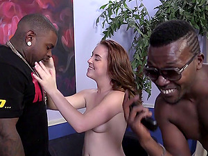 Sexy Dark-haired With Lengthy Hair Loves Interracial Gonzo