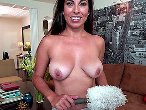 Attractive Maid Gets Feasted Hard-core In A Close Up Shoot