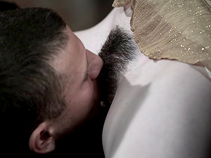 Stoya gets her hairy cootchie fucked from behind in a bar