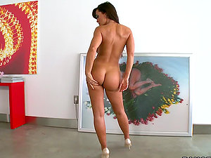 Lisa Ann's Bootie Gets A Fake penis & A Manstick