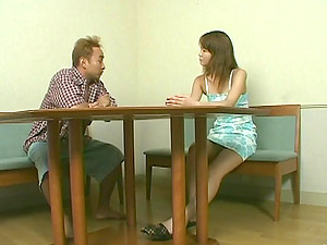 Asian whore fucktoys her hairy snatch and gets it fucked every which way