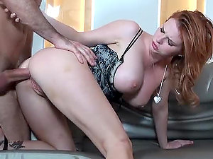 Stunning Euro Ginger-haired Stunner Tarra Milky Loves Buttfuck Romp