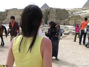 Honeymoon Stunner Bangs in Egypt