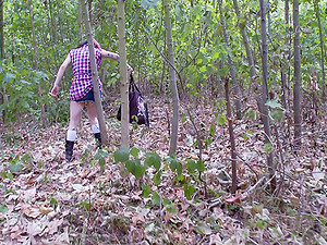 He takes a punk chick out to the forest and fucks her