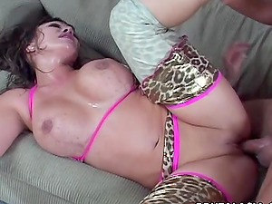 He fucks her hatch then stuffs his hard man rod in her culo
