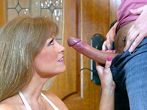 Cougar Darla Crane is his private curvy tramp in big manstick porno