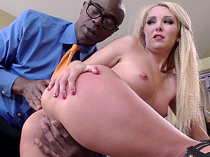 Little tits milky damsel and a giant black dick meet for deep hookup