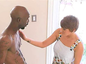 All natural milky woman practices the might of a big black dick