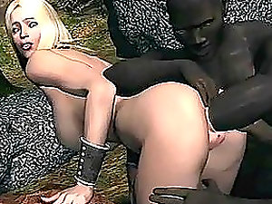 Sizzling Hot Blonde Getting Battered By Black Dicks